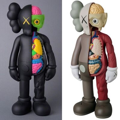 KAWS, 'KAWS Flayed Companions 2016: set of 2 (KAWS brown black flayed)', 2016