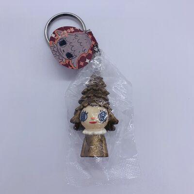 Yoshitomo Nara, 'Mori Girl Keychain (Gold) ', 2012
