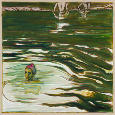 Billy Childish, 'swimmers', 2018