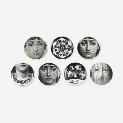 Piero Fornasetti, 'Tema e Variazioni plates, collection of seven', c. 1955