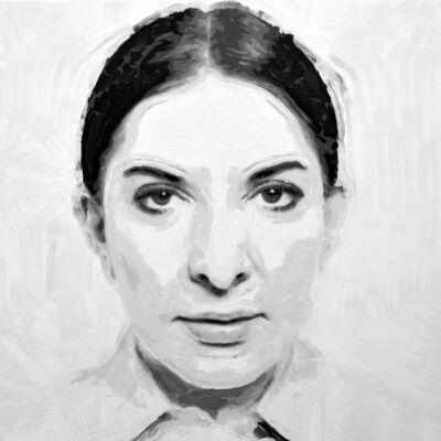 Rob and Nick Carter, 'Marina Abramović Robot Painting, Painting time: 31:33:15 Stroke count: 8,352 5-7 January 2020', 2020