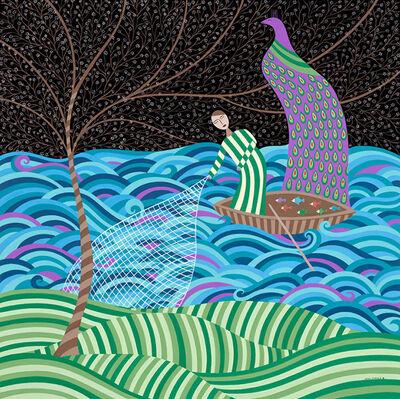 Helen Zughaib, 'Moonlight Fishing', 2014