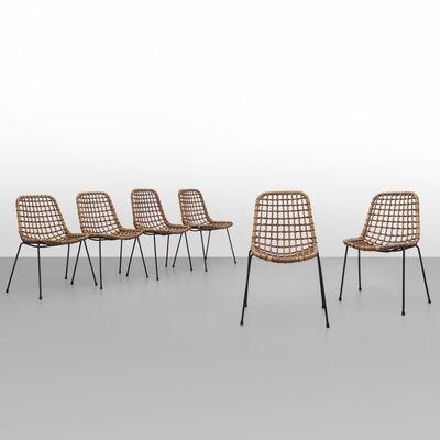 Tito Agnoli, 'A set of six chairs 'BS 1' model', 1960's