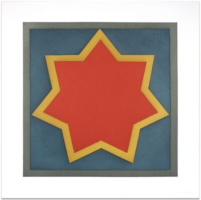 Sol LeWitt, 'Star - Red Center (Plate #5)', 1983