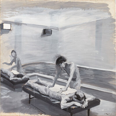 Liu Xiaodong, 'Boys in the bathhouse no. 5', 2000