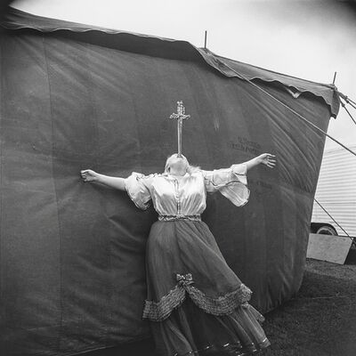 Diane Arbus, 'Albino sword swallower at a carnival, MD.', 1970