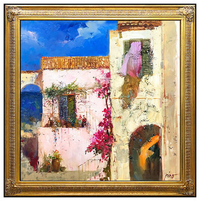 Pino Daeni, 'Pino Daeni Large Original Oil Painting on Canvas Italian Landscape Signed Art', 20th Century