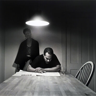 Carrie Mae Weems, 'Untitled (Man Reading Newspaper) & Kitchen Table Series Book', 1990-1999