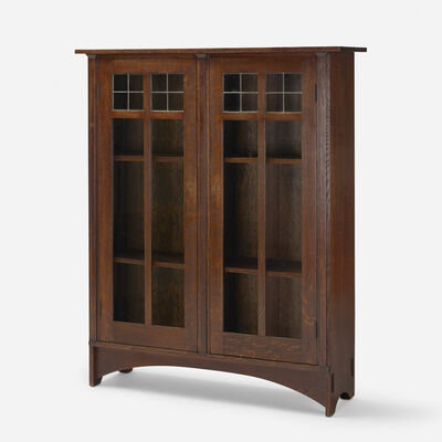 Craftsman Workshops of Gustav Stickley, 'bookcase, model 701', c. 1904