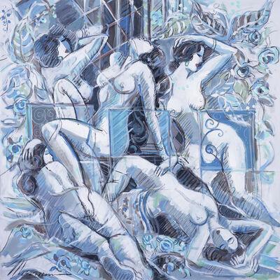 Isaac Maimon, 'Femmes Bleues', 2017