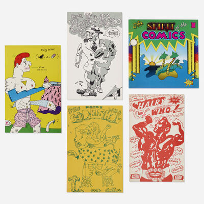 Hairy Who, 'collection of artists' books and ephemera by Jim Falconer, Art Green, Gladys Nilsson, Jim Nutt, Suellen Rocca and Karl Wirsum', 1966-69