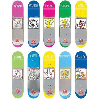 Keith Haring, 'Omar Salazar, Tyler Bledsoe, Rob Dyrdek, Dylan Rieder, Anthony Van Engelen, Grant Taylor, Jake Johnson, Gilbert Crockett, Mikey Taylor, Jason Dill (set of 10)'