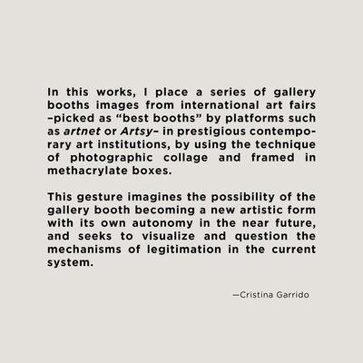 Cristina Garrido, 'Air de Paris at Art Genève 2014/ Fondation Beyeler - Best Booths series', 2017