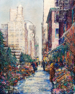 Guy Dessapt, 'FLOWERS MARKET NEW YORK', 1989
