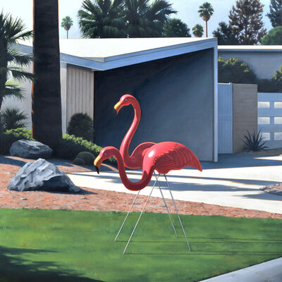 Danny Heller, 'Morning Lawn Flamingos', 2017