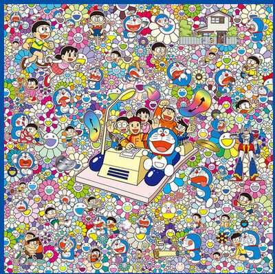 Takashi Murakami, 'WE CAN GO ANYWHERE WITH MR. FUJIKO F. FUJIO AND THE TIME MACHINE! SILKSCREEN', 2019