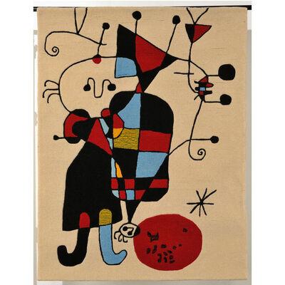 Joan Miró, 'Personnages et Chien devant le Soleil', 1949