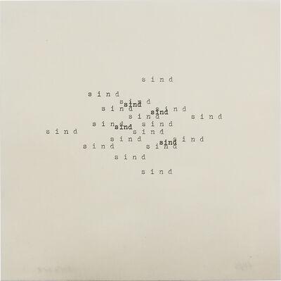 Heinz Gappmayr, 'Untitled (sind)', 1964
