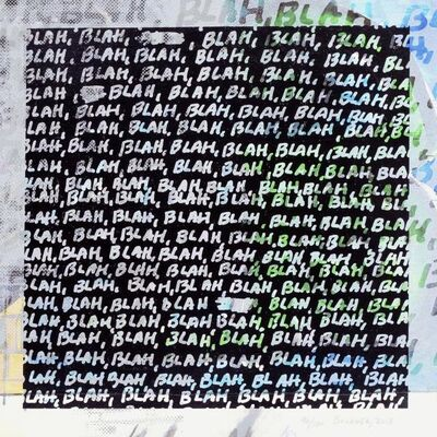 Mel Bochner, 'Blah, Blah, Blah + Background Noise', 2012
