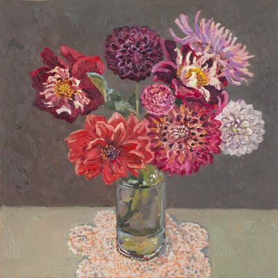 Lucy Culliton, 'Bunch of dahlias', 2018