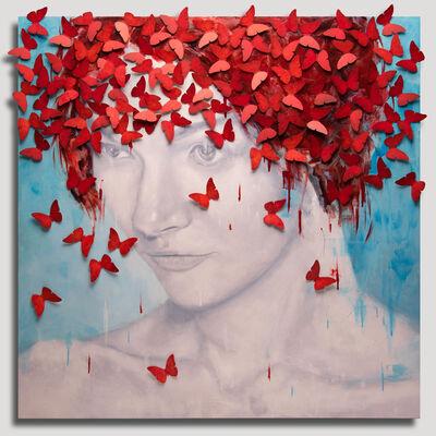 Serge Déry, 'Butterfly profile (Profil aux papillons)', 2018