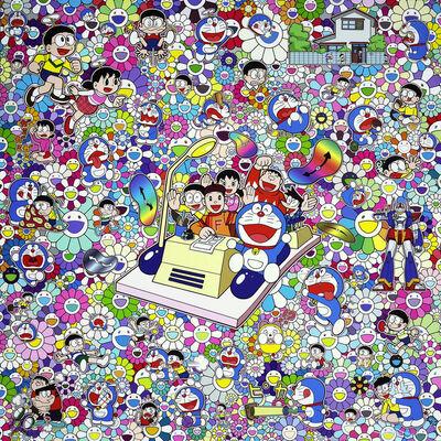 Takashi Murakami, 'Doraemon: On an Endless Journey on a Time Machine with the Author Fujiko F Fujio - Lithograph', 2019