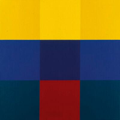 Richard Paul Lohse, 'horizontale betonung durch gelb', 1988