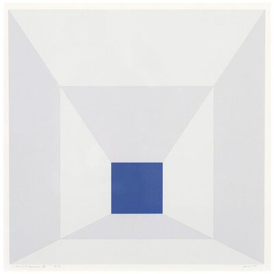 Josef Albers, 'Mitered Squares – Cobalt', 1976