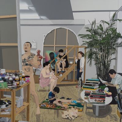 Chen Fei, 'Painter and Family / 畫家和家庭', 2018