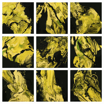 Aleta Pippin, 'River of Gold, polyptych', 2018