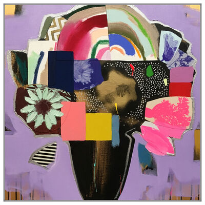 Emily Filler, 'Vase of Flowers (Violet + Rainbow)', 2019