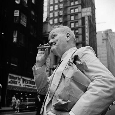 Vivian Maier, 'VM19XXW03080-04-MC - Chicago, IL, n.d., Man with Cigar', Printed 2017