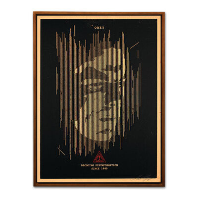Shepard Fairey, 'Decoding Disinformation (Black)', 2015