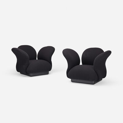 Pierre Paulin, 'Multimo lounge chairs, pair', 1969