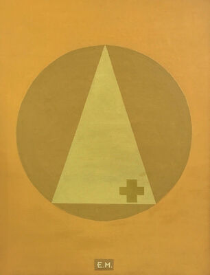 Alberto Casari, 'Yelllow Cross on Yellow Triangle on Yellow Circle on Yellow Background, ', 2000
