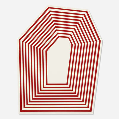 Barry McGee, 'Untitled (Hexagon Maroon Stripes)', 2012