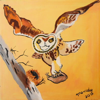 Mercedes Kelly, 'Owl Flying with Meal', 2015