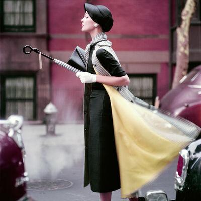 Norman Parkinson, 'Traffic, Ivy Nicholson in New York, Vogue', 1957
