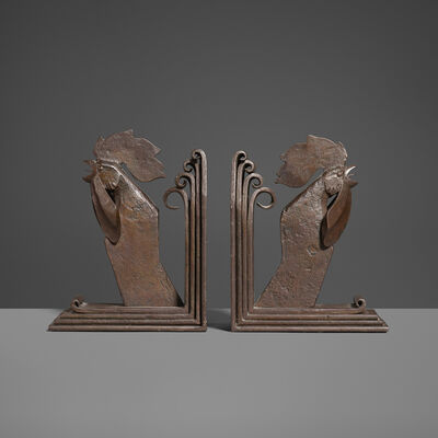 Edgar Brandt, 'Rooster Bookends, Pair', c. 1927