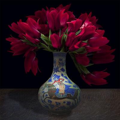 T.M. Glass, 'Tulips in a Persian Vessel ', 2017