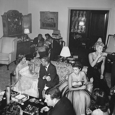 Slim Aarons, 'Beverly Hills Party, 1952: Guests at a party given by Mrs. Gary Cooper (Veronica Cooper) in Beverly Hills.', 1952