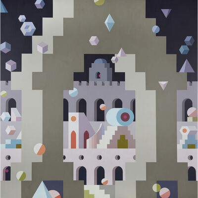 Edna Andrade, 'Fortress', 1992