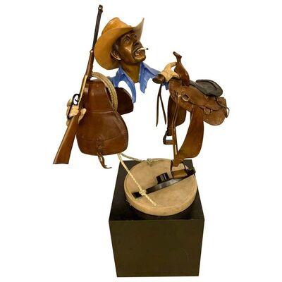 Paul Wegner, 'Paul Wegner circa 1986 Limited Edition Bronze Sculpture of a Cowboy', ca. 1986