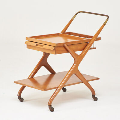 Style of Cesar Lacca, 'Bar cart with single drawer', 1960's