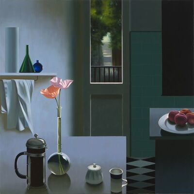 Bruce Cohen, 'Interior with Coffee Pot and Poppies', 2017