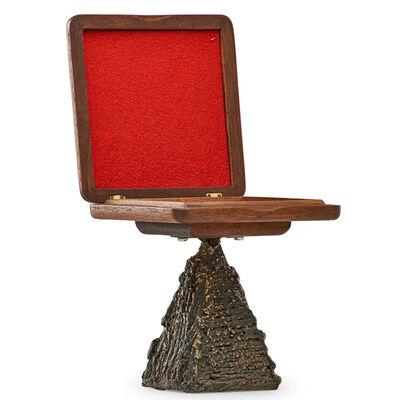 Paul Evans, 'Pedestal cigarette box on Sculptured Bronze base', 1970s