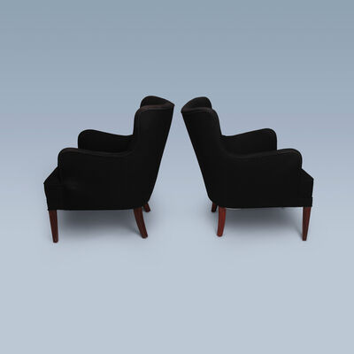 Frits Henningsen, '1940s lounge chairs with black fabric', 1940-1950