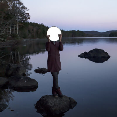 Cig Harvey, 'Sadie and the Moon, Lake Megunticook, Maine', 2013