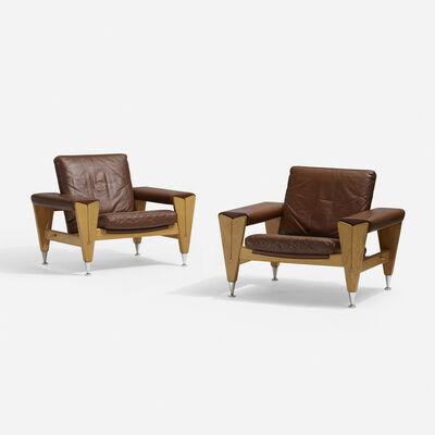 Hans Jørgensen Wegner, 'lounge chairs, pair', 1967