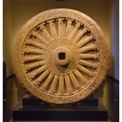 Unknown Artist, 'Dharmachakra, the Buddhist Wheel of Law, 7th century', 7th Century
